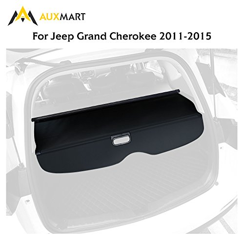 AUXMART Trunk Cargo Cover Fit 2011-2016 Jeep Grand Cherokee Trunk Shielding Shade (Jeep Grand Cherokee Cargo Cover)
