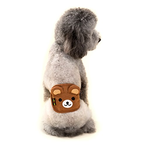 Alfie Pet by Petoga Couture - Rafael Belly Band (for Boy Dogs) - Color: Brown, Size: (Dog Diaper Garment Wrap)