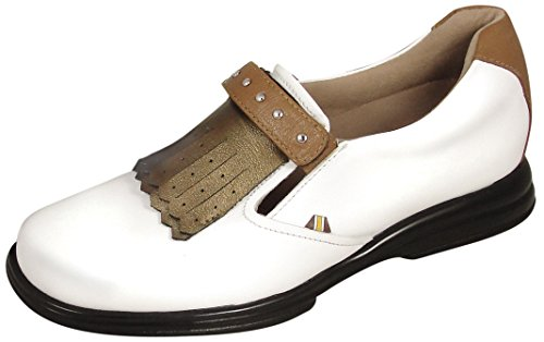 SandBaggers Royal Kilt Tan Women's Golf Shoes (9 (Tan Womens Golf Shoe)