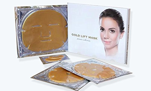 BSW Private Collection (Gold Lift Mask, Gold Breast Mask, Gold Eye Lift Mask, Reduces Wrinkle, Eye Puffiness and Dark Circles, Breast Lifting and Firming Mask, Gold Infused Rejuvenating Mask ()