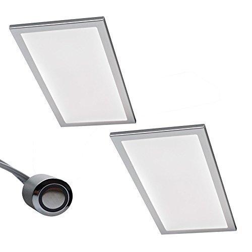 2 Er Set LED Küchen Unterbauleuchte BASSO 2 X 6 W Warmweiss Touchschalter  Dimmer Licht Dimmbar ...