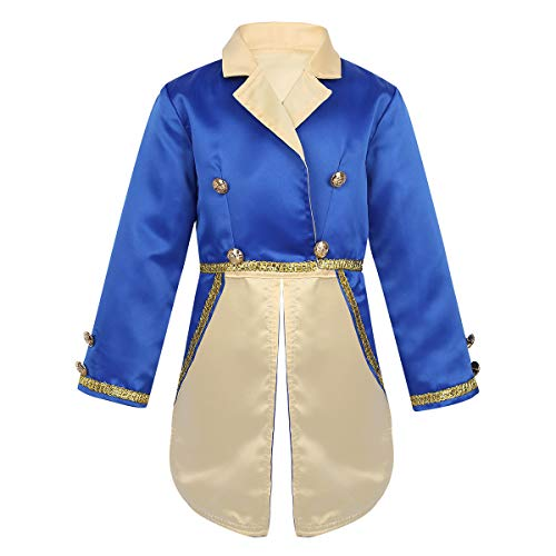 FEESHOW Kids Baby Boys Prince Halloween Cosplay Costume Tailcoat Tuxedo Suit Jacket Blue Jacket 6