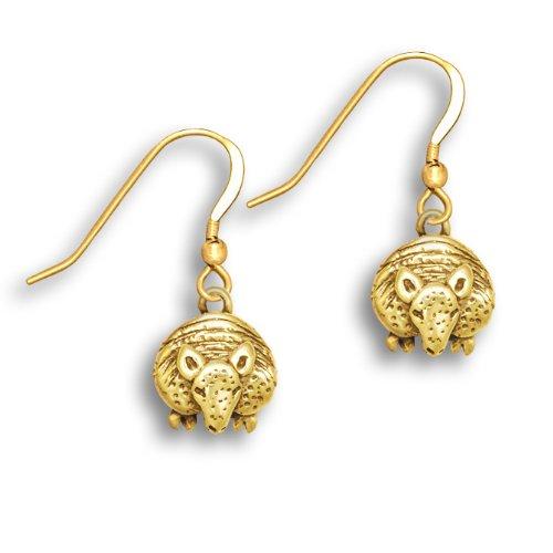 14k Gold Facing Armadillo Earrings by The Magic Zoo (Armadillo Costume)