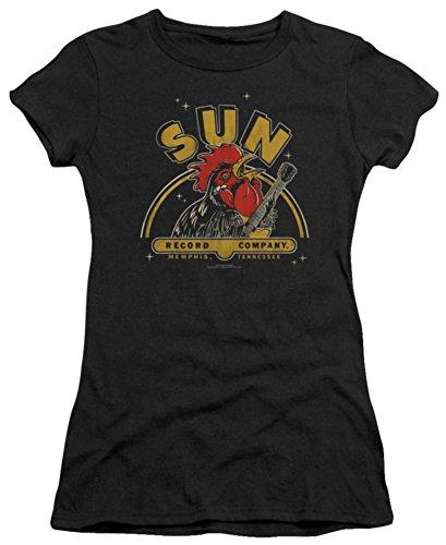 Juniors: Sun Records-Rocking Rooster Juniors (Slim) T-Shirt Size L -