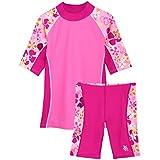 Tuga Girls Seaside S/S & Jammer (UPF 50+), Misty Pink, 2/3 yrs