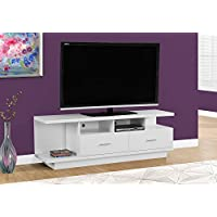 Monarch I 2676 TV Stand with 2 Drawers, 60', White