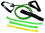 SPRI ES510R Xertube and Xercise Bands (1 Green Xertube, 3 Xercise Bands)