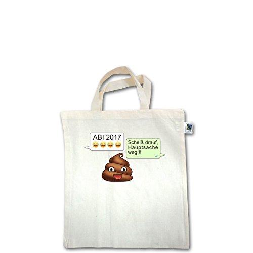 Abi & Abschluss - ABI 2017 - Scheiß drauf Messenger - Unisize - Natural - XT500 - Fairtrade Henkeltasche / Jutebeutel mit kurzen Henkeln aus Bio-Baumwolle
