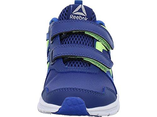 Reebok Run Supreme 2.0 2v, Zapatillas de Deporte Unisex Niños Azul (Vital Blue / Deep Cobalt / Electric Flash / Si)
