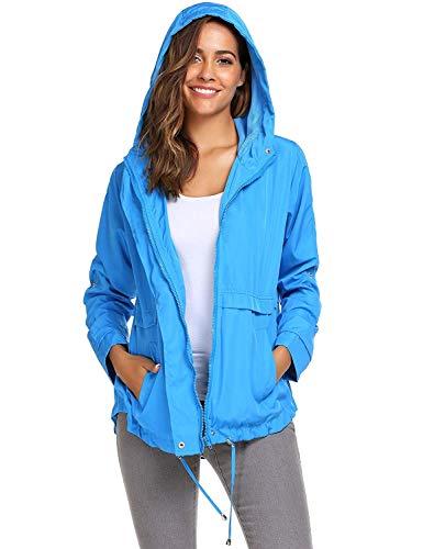 Casual Cremallera Blau Cortavientos Con Clásico Mujer Impermeable Aire Liviano Laisla Mujeres Y Fashion Libre Para Al qOwH5fvxEZ