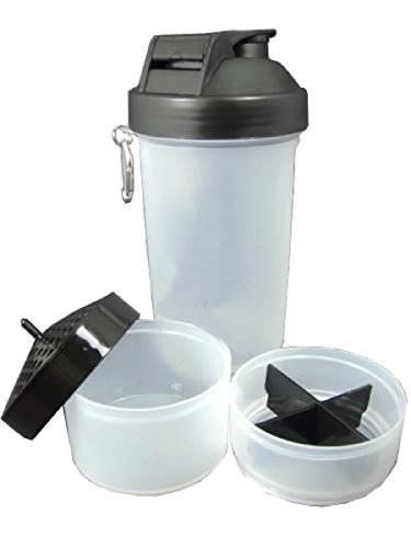 Kuber Industries 700ml Protein Gym Shaker Bottle Twist &