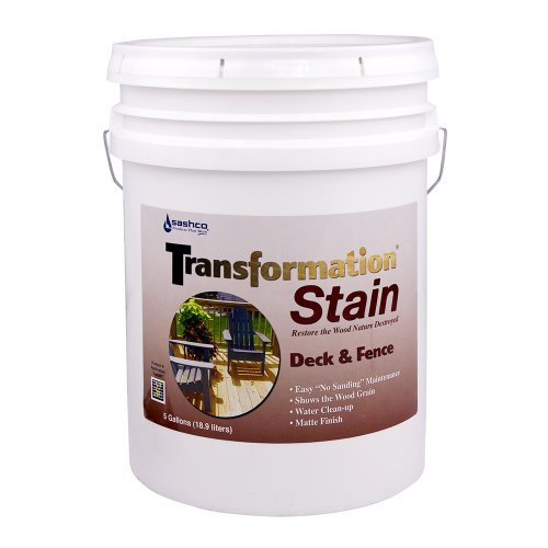 Sashco Transformation Deck and Fence Stain, 5 Gallon Pail, Natural (Pack of 1) by Sashco