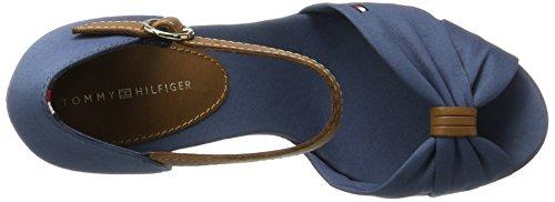 FW0FW00905 Espadrilles Donna Hilfiger Blu 013 Jeans Tommy con Zeppa q1w45vU