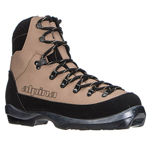 Alpina Sports Montana Backcountry Cross Country Nordic Ski Boots, Brown/Black, Euro 46