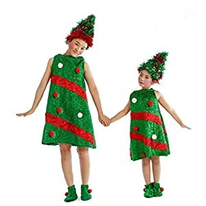 Todaies Toddler Girls Christmas Clothes Costume Kids Baby Party Dresses+Hat+Socks Outfit  sc 1 st  Amazon.com & Amazon.com: Todaies Toddler Girls Christmas Clothes Costume Kids ...