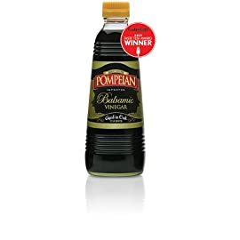 Pompeian Balsamic Vinegar Aged in Oak 16 Oz (Pack of 2) 9 Distinctive flavor and aroma that comes from aging Naturally Gluten Free and Non-Allergenic.