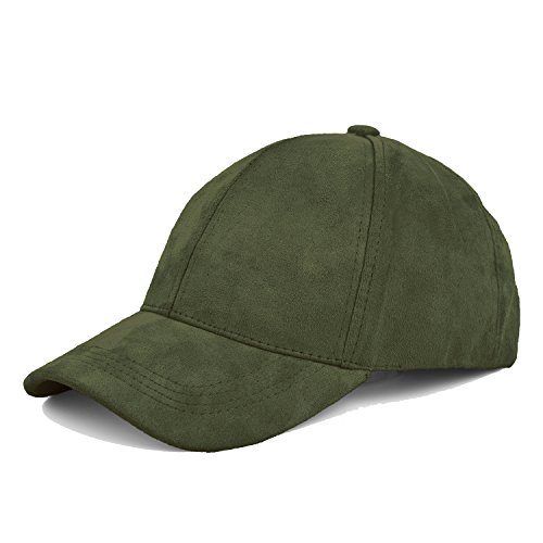 JOOWEN ユニセックス 6パネル ベースボールキャップ スエード 調節可能 単色 帽子