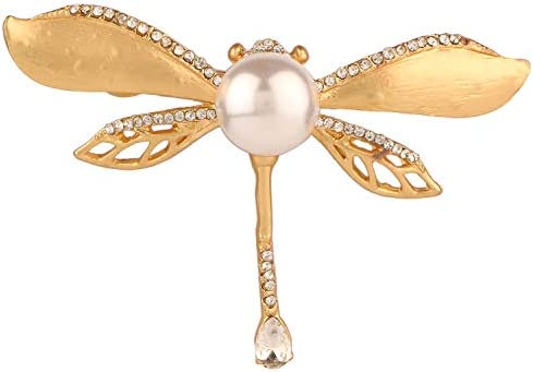 Crystal Pearl Animals Dragonfly Butterfly Brooch Pin Wedding Bridal Jewelle LUV