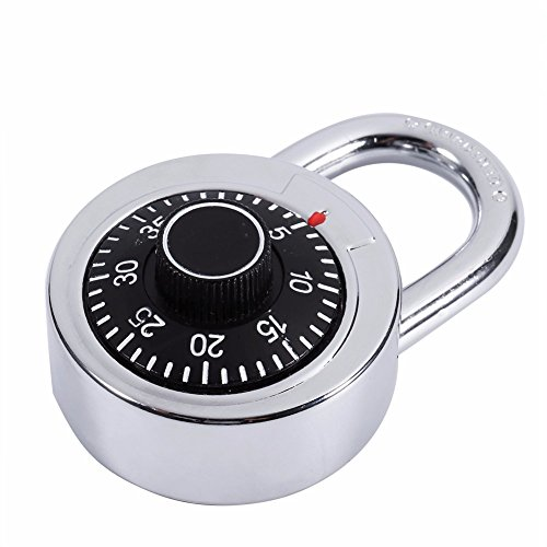 Isguin Zinc Alloy Rotary Combination Padlock Silver Travel Luggage Suitcase Code Lock Travel Accessories Imported Luggage Accessories