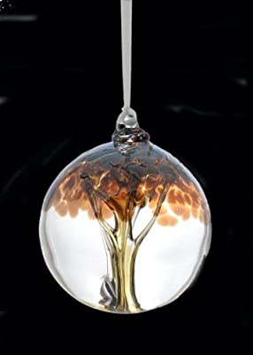 New Beginnings Tree of Life Glass Friendship Ball