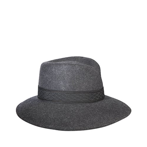 Eric Javits Luxury Fashion Designer Women's Headwear Hat - Popkim - Charcoal by Eric Javits