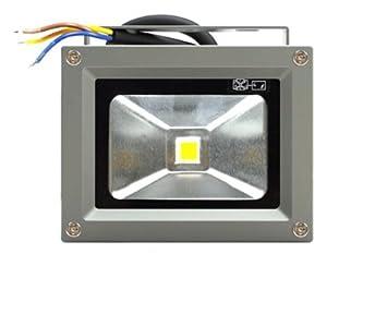 amzdeal® Foco Proyector 10W, Blanco Cálido, IP67 AC85-240V, Foco ...