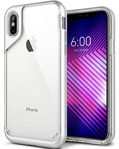 Caseology Skyfall for Apple iPhone X Case (2017) - Clear Back & Slim Fit - Blanc