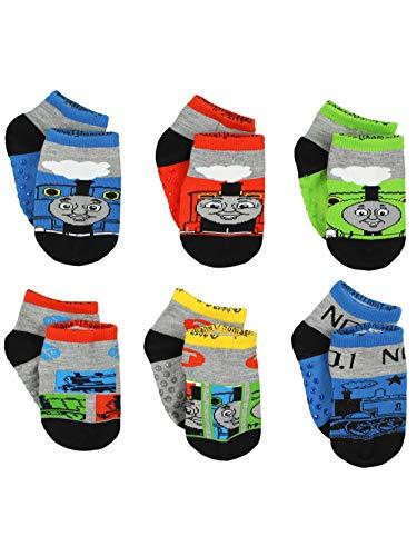 Thomas Train Boys 6 pack Socks (4-6 Toddler (Shoe: 7-10), Thomas Grey/Multi)