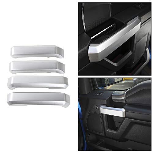 Voodonala Silver Inner Door Handle Covers Trim for Ford F150 2015 2016 2017
