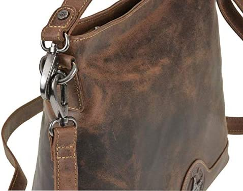 Billy the Kid 0881-25 - Borsa a tracolla in pelle Macadamia, 34 x 28 cm, colore: Marrone
