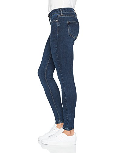 para Blue Denim Vero Skinny Moda Mujer Dark Vaqueros Azul ncZBFpWa