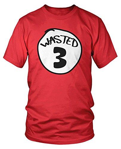 Amdesco Men's Wasted 3 T-Shirt, Red Medium