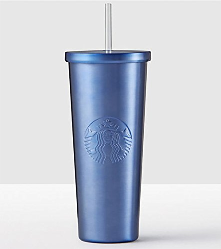 Starbucks Midnight Blue Stainless Steel 24 fl oz Cold Cup Tumbler Travel Mug by Starbucks