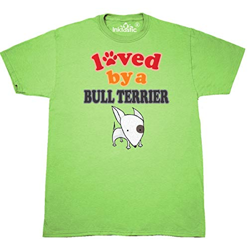 inktastic - Bull Terrier Dog Lover Pet Gift T-Shirt X-Large Key Lime 33343 ()