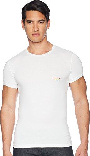 Emporio Armani Men's Big Eagle Slim Fit Crewneck T-Shirt White Large