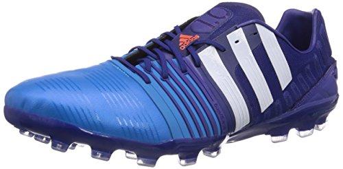 adidas Nitrocharge 1.0 Ag - zapatillas de fútbol de material sintético hombre azul - Blau (Amazon Purple F14/Ftwr White/Solar Blue2 S14)