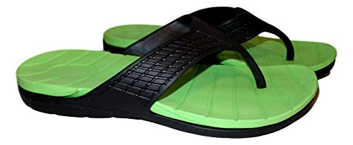 101 BEACH Mens Shock Absorbing Summer Waterproof Sandals Green / Black SlKhAYBwLN