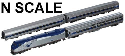 Kato Train - Kato USA Model Train Products P42, Amfleet and Viewliner Intercity Express Phase VI, 4-Unit Set