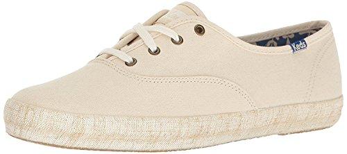 n Burlap Foxing Fashion Sneaker,Natural,8 M US ()