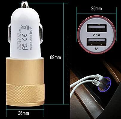 DOT. Cargador de Coche Doble Puerto USB LED 12-24V 3,1a MAX ...