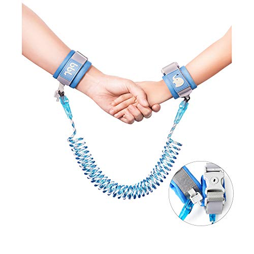 Anti-Lost Wrist Link, Blue Reflective Anti-Lost Wrist Chain with Child Lock 6.56 feet. from Dream Lin