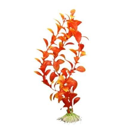 SODIAL(R) Planta Plastico Decoracion para Acuario Pecera Color Naranja: Amazon.es: Hogar