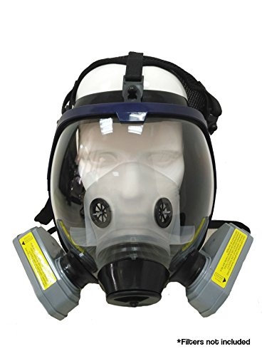 [Full Face Silicone Respirator Mask NBC Protection For Industrial Use, Chemical Handling, Painting, Welding,] (Full Face Gas Mask Costume)
