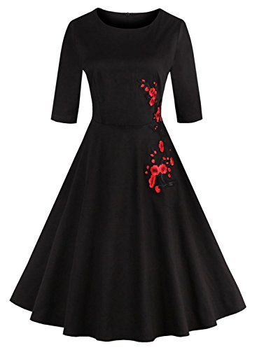 Ezcosplay Womens Vintage Retro Embroidered product image
