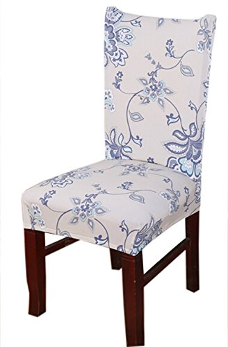 Stretch Removable Washable Short Dining Chair Cover Protector Seat Slipcover (3)