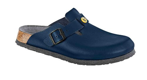 Birkenstock Boston ESD Zoccoli Pelle blu - 061380 - calzata normale (EU 43)