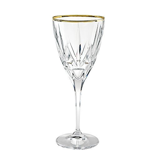 Lorren Home Trends 262310-GD Chic Set of 6 White Wine with 2
