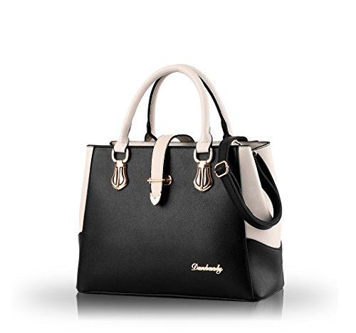 Nicole&Doris 2016 new black and white faishon style handbag casual shoulder bag cross-body work bag purse for ladies