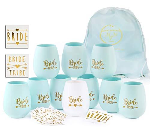Bride Tribe Bachelorette Party Silicone Cups - Set
