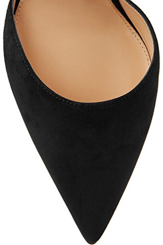 Kevin Mode Kf151033 Womens Fashion Kors Rem Mocka Pumpar Skor Svarta